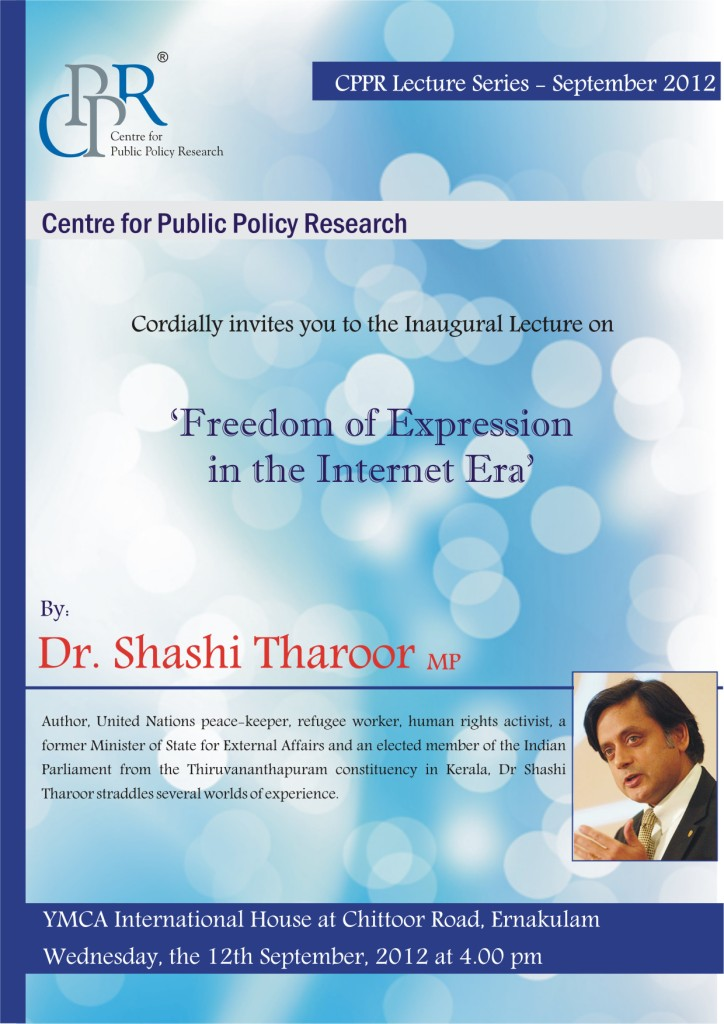 Talk on 'Freedom of Expression in the Internet Era ...