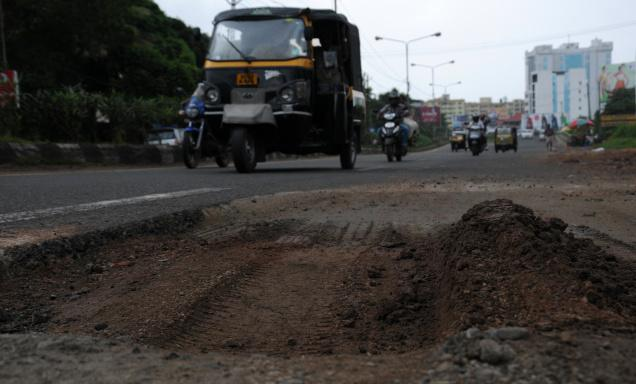 he who-cares attitude of the PWD and the KWA in restoring has resulted in frequent accidents in Kochi. Seen here is incomplete restoration of the SA Road at Vyttila Janatha