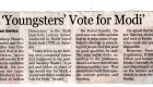 'Youngsters Vote for Modi', The New Indian Express