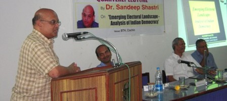 CPPR 6th Quarterly lecture delivered by Dr. Sandeep Shastri, Prominent Political Scientist
