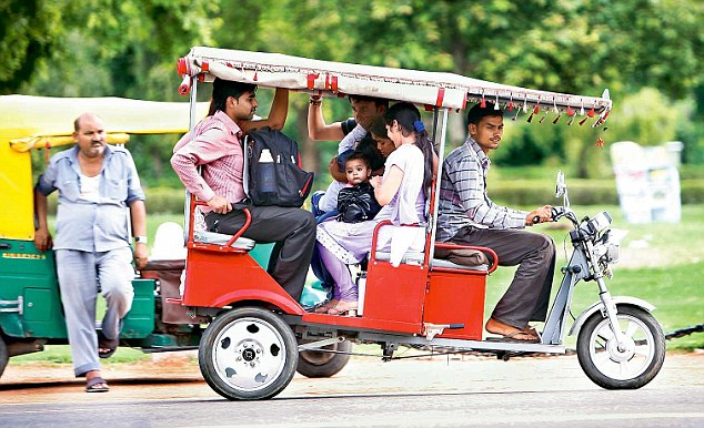 e-rickshaw, The Daily Mail