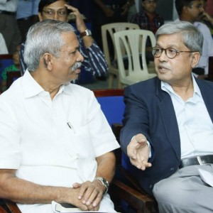 Prof K.C Abraham, Academic Director - CPPR with Mr Dileep Padgaonkar ( Consulting Editor at Times Of India)