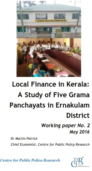 Local Finance in Kerala A Study of Five Grama Panchayats in Ernakulam District_Working paper_001