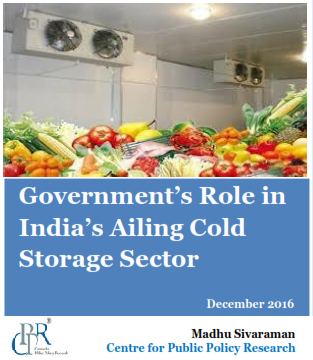Government's Role in India's Ailing Cold Storage Sector