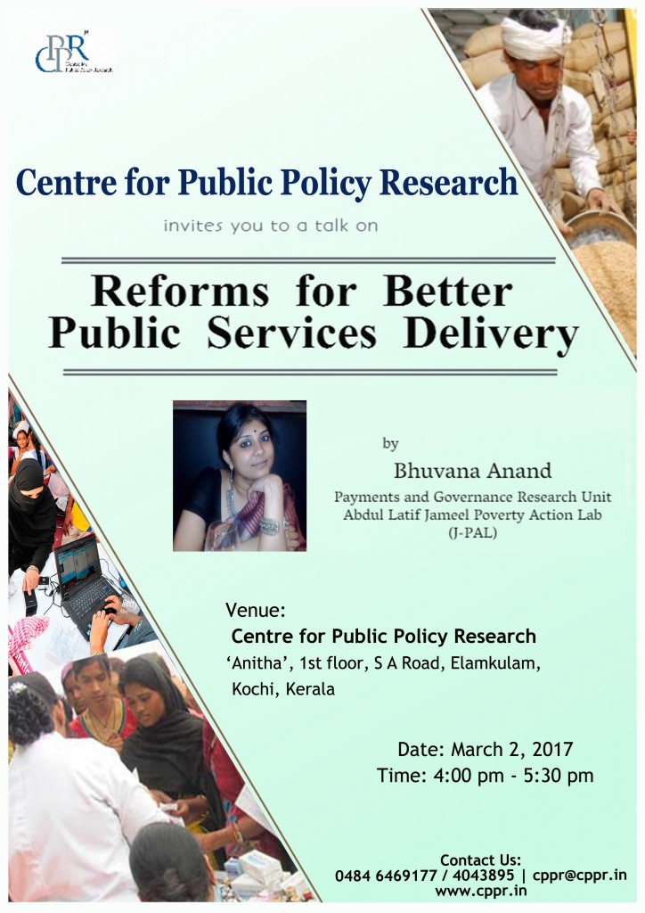 Talk on Reforms for Better Public Service Delivery