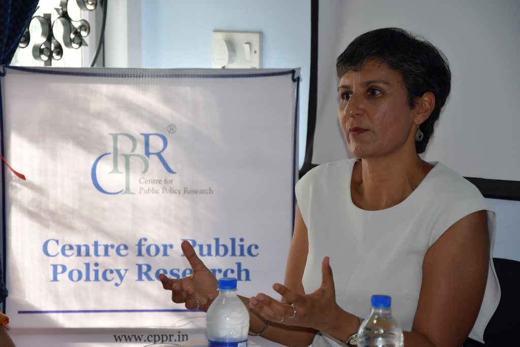 Her Excellency, the Australian High Commissioner to India, Harinder Sidhu, at the CPPR Office