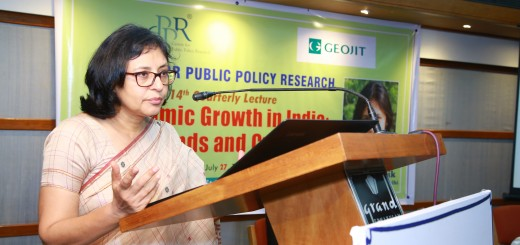 Dr Ila Patnaik delivering CPPR 14th Quarterly Lecture on 'Economic Growth in India: Trends and Cycle'