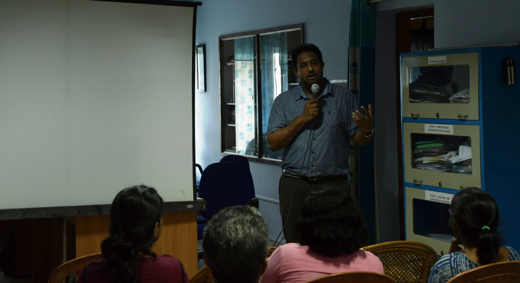 Dr Joe Thomas Karackattu, director of 'Guli's Children' interacting with the audience