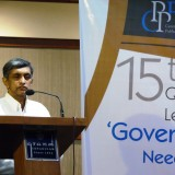 Dr Jayaprakash Narayan delivering CPPR 15th Quarterly Lecture in Kochi
