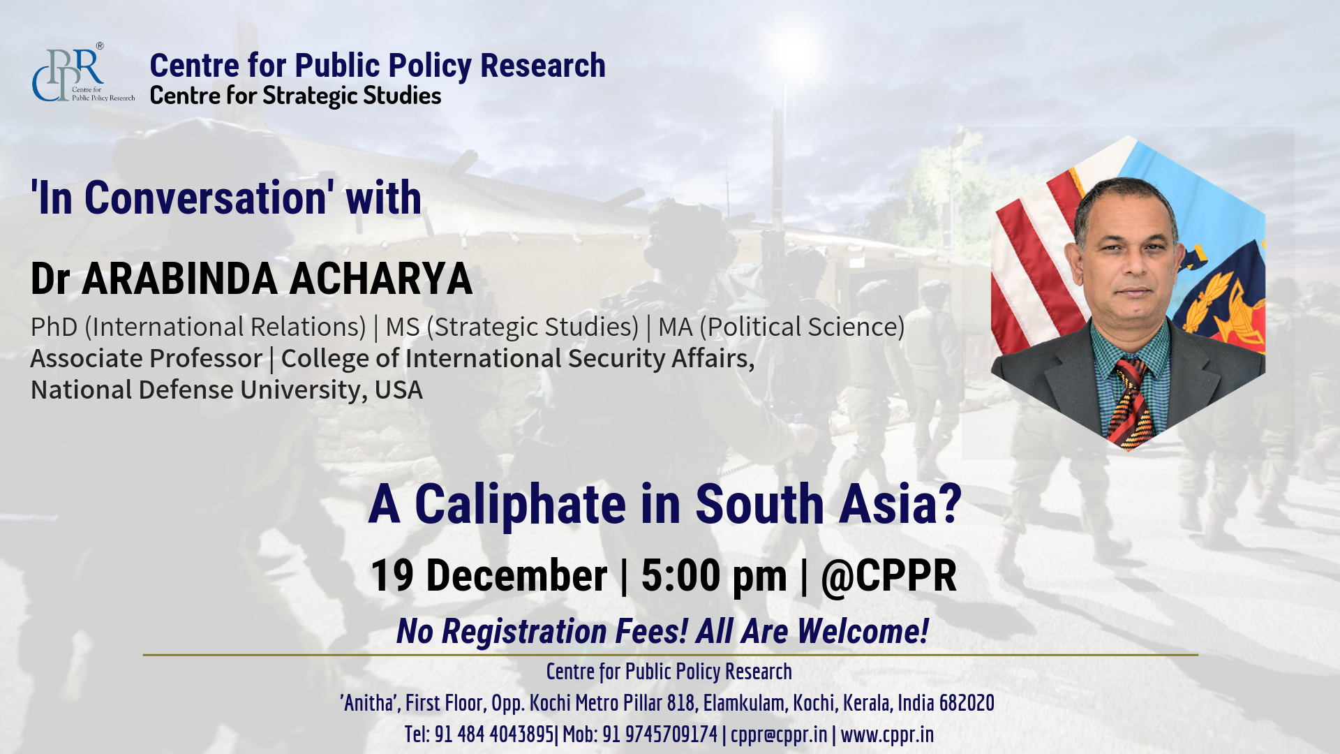 In Conversation with Dr  Arabinda Acharya - Centre for Public Policy