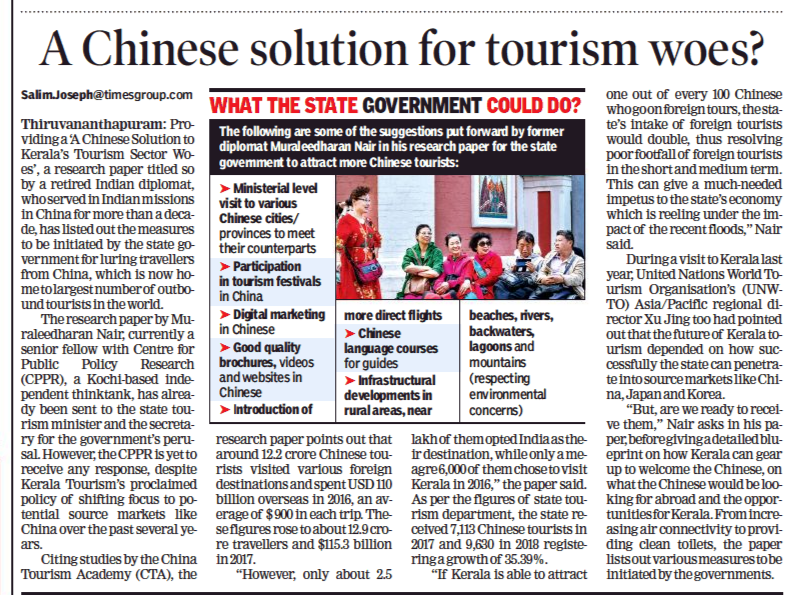A Chinese solution for tourism woes? - Centre for Public Policy